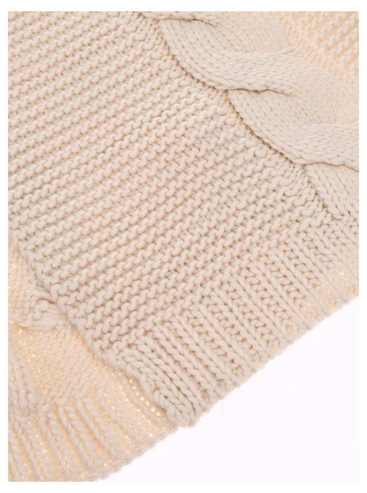 Eșarfă Rifka crem tricotată de la Pieces