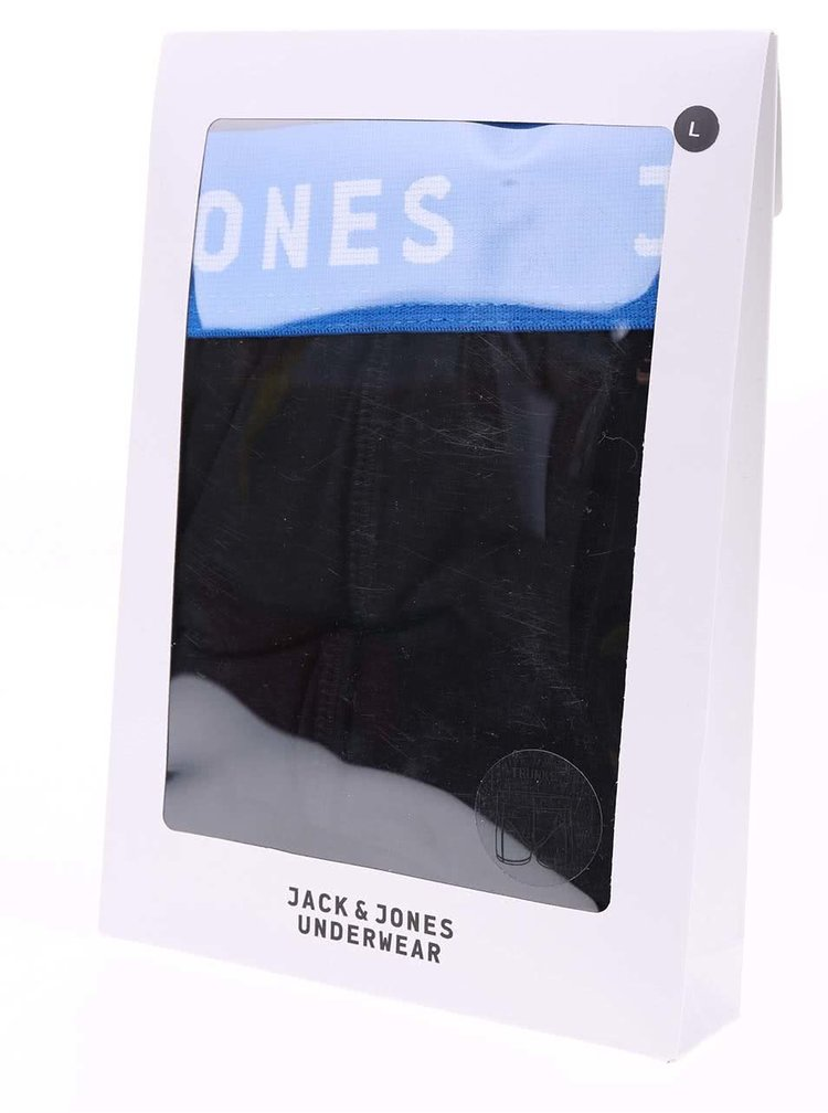 Boxeri negri Jack & Jones Color Donk