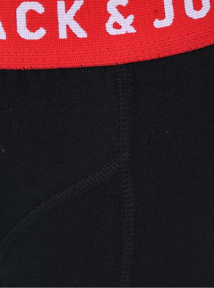 Čierne boxerky s červeným lemom Jack & Jones Color Donk