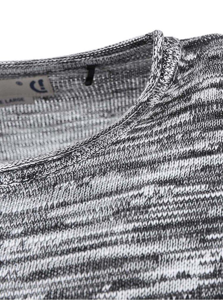 Bílo-černý svetr !Solid Stratton