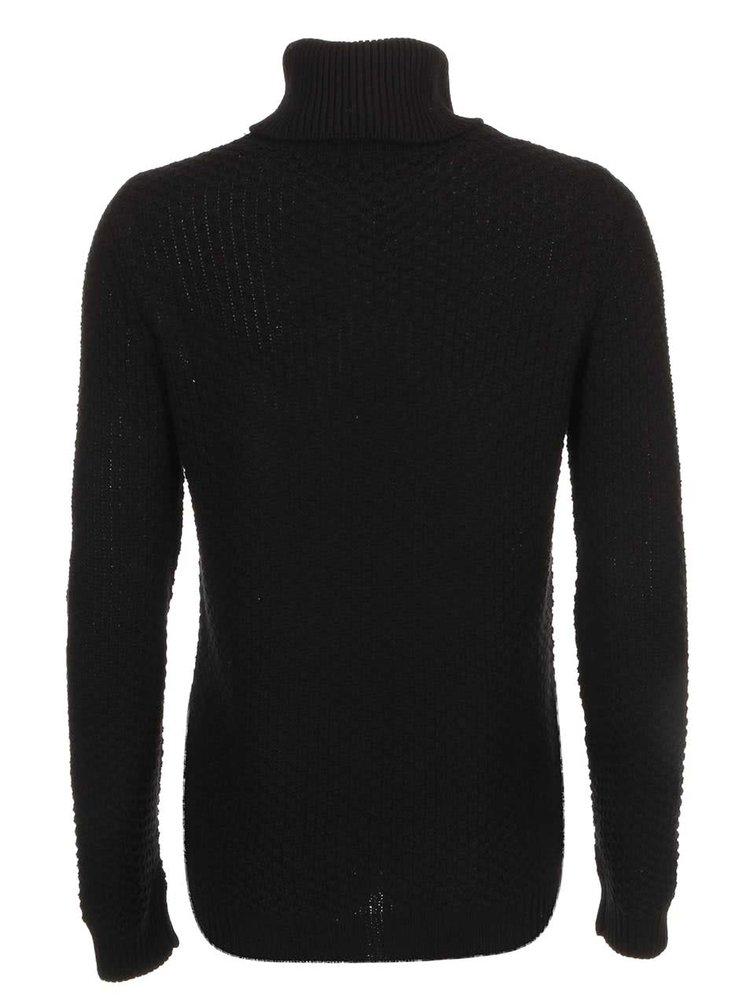 Černý pletený svetr se vzorem VILA Lilla