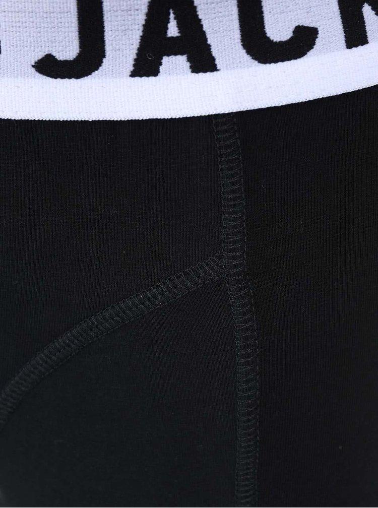 Sada tří boxerek v černé barvě Jack & Jones Sense