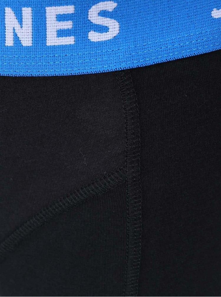 Sada tří boxerek v černé barvě s barevným lemem Jack & Jones Color Donk