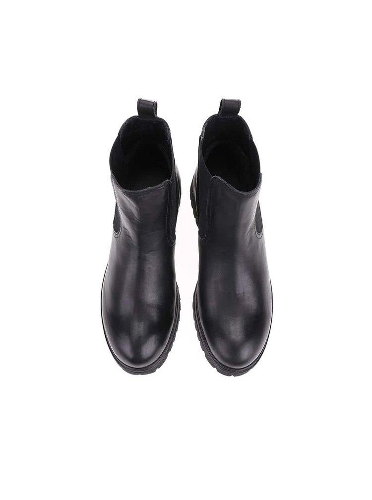 Černé dámské kožené boty U.S. Polo Assn. Marine