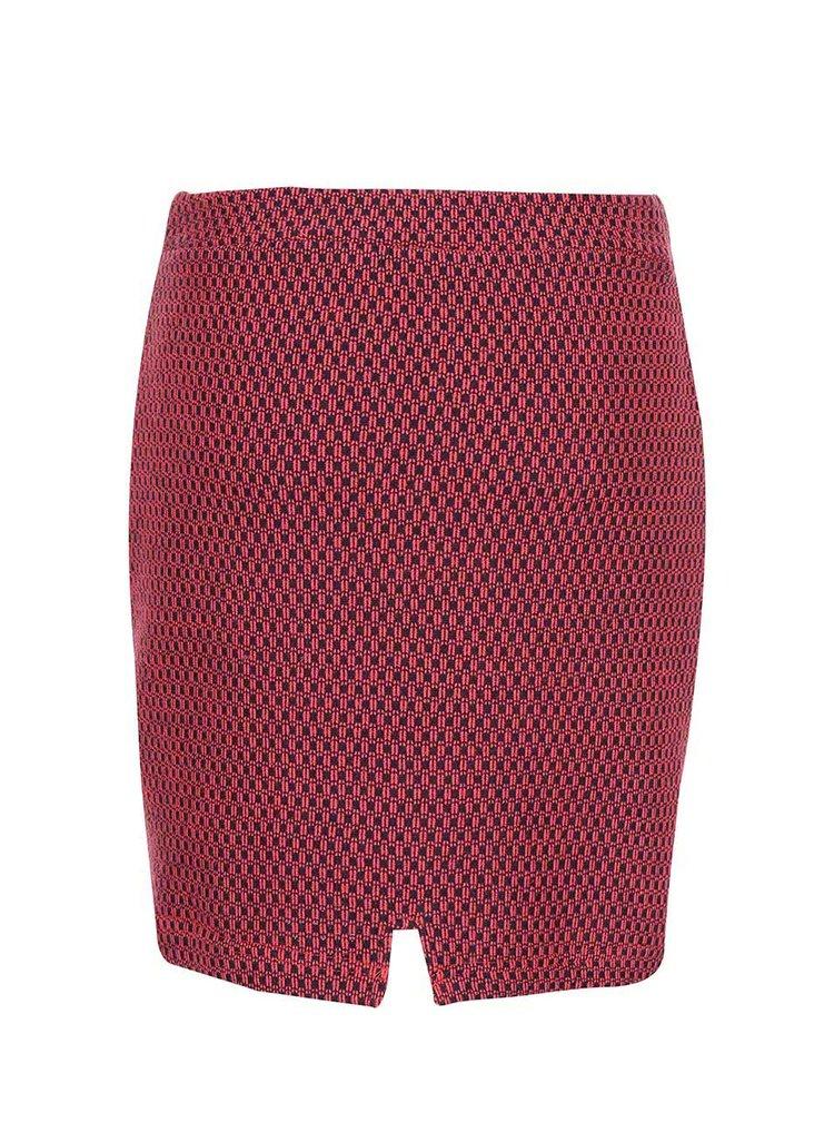 Červená vzorovaná sukně Skunkfunk Lana
