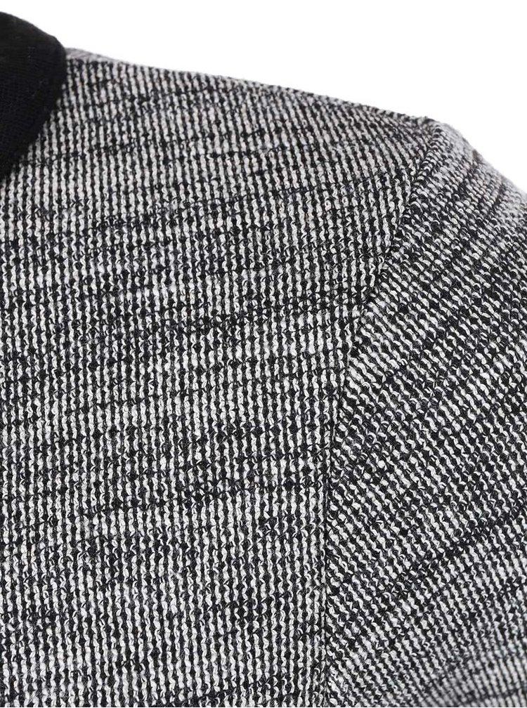 Rochie negru cu gri pe gat Skunk Philippa