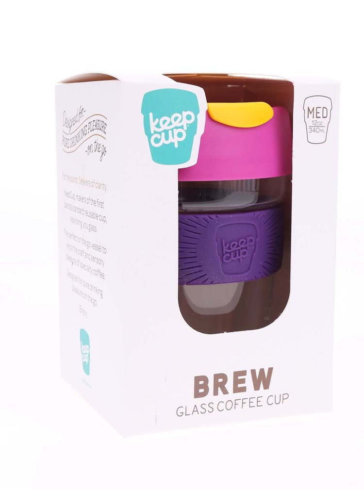 Designový cestovní skleněný hrnek KeepCup Renegade Brew Revolutionary Medium