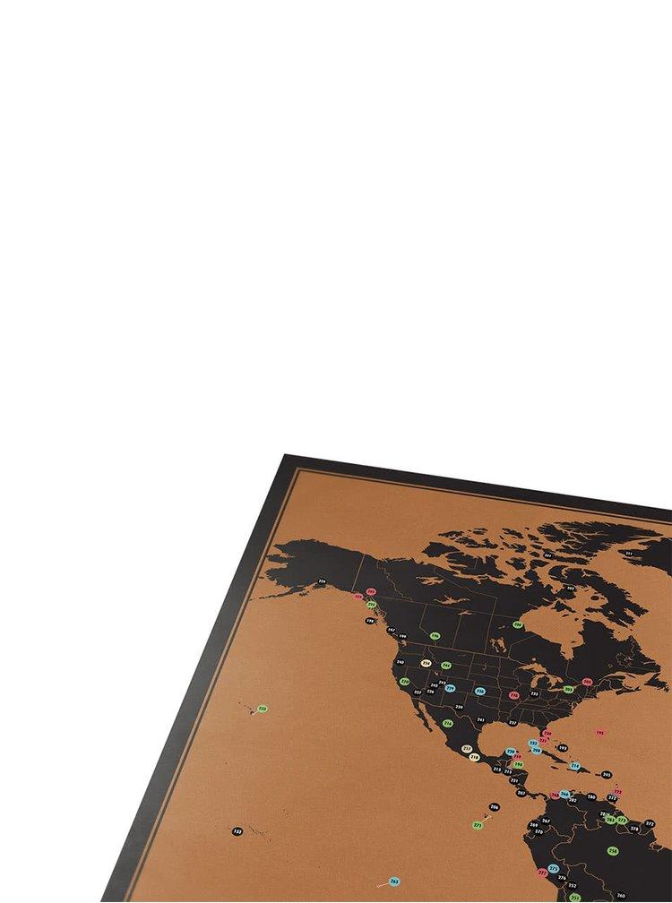 Velká nástěnná stírací mapa Luckies Adventure