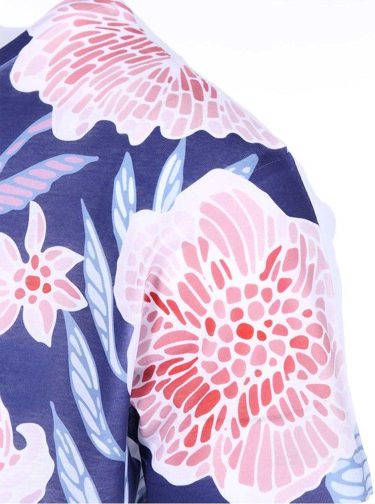 Tricou  ZOOT Original albastru cu model floral barbatesc