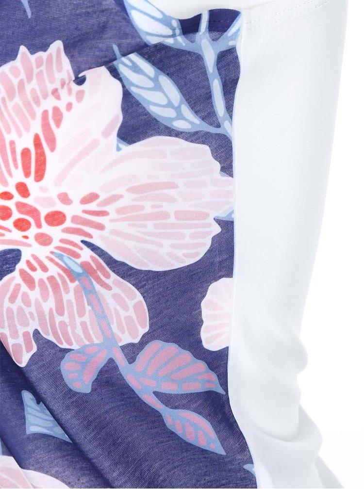 Modré dámské květované tílko ZOOT Originál Květiny