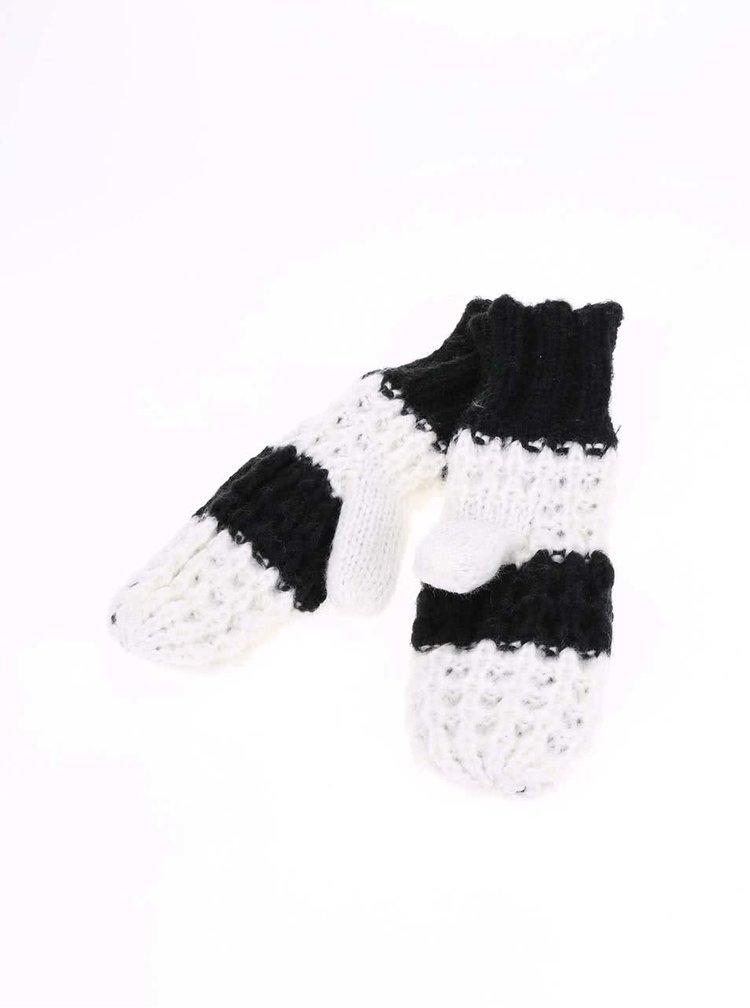 Čierno-biele dámske pruhované palčiaky Cheap Monday Want
