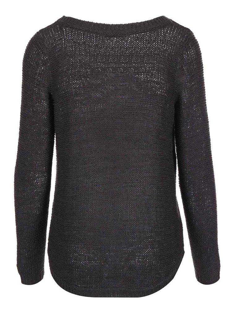 Tmavosivý voľnejší sveter ONLY Geena
