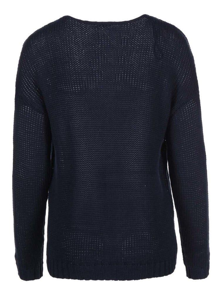 Tmavomodrý sveter ONLY Crisp