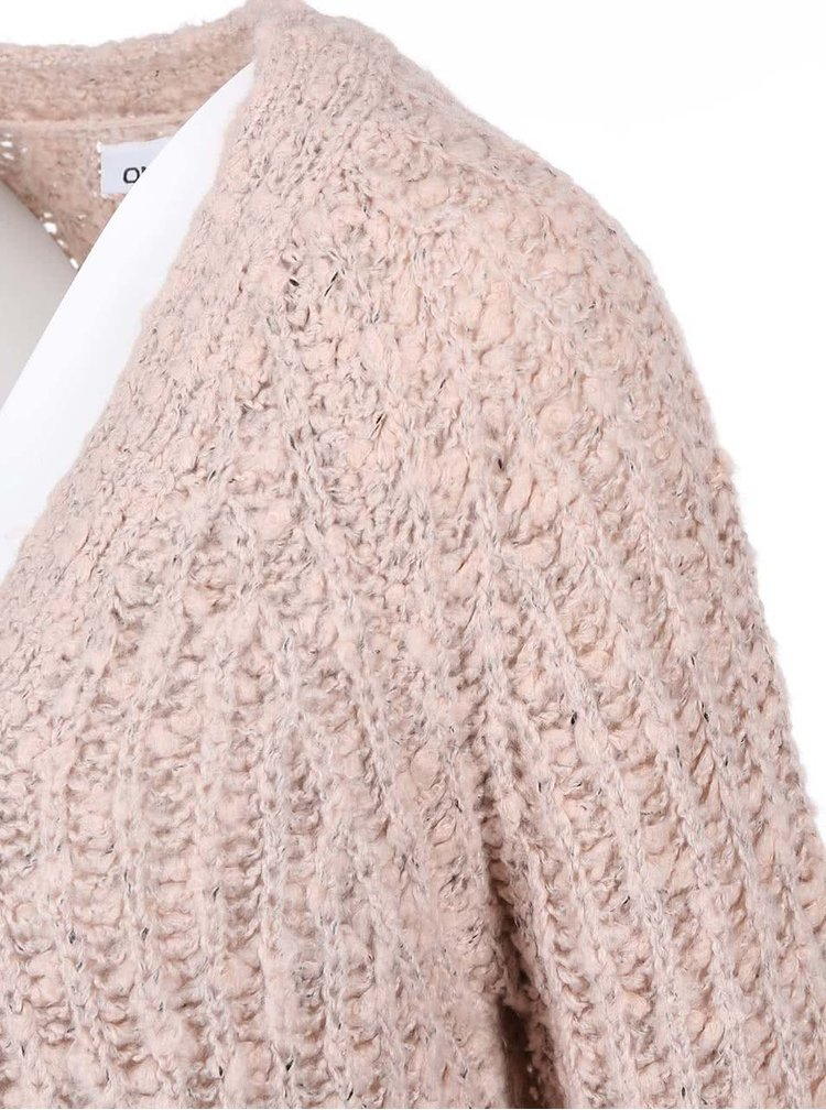 Cardigan Sissy Peach Whip roz lung de la ONLY