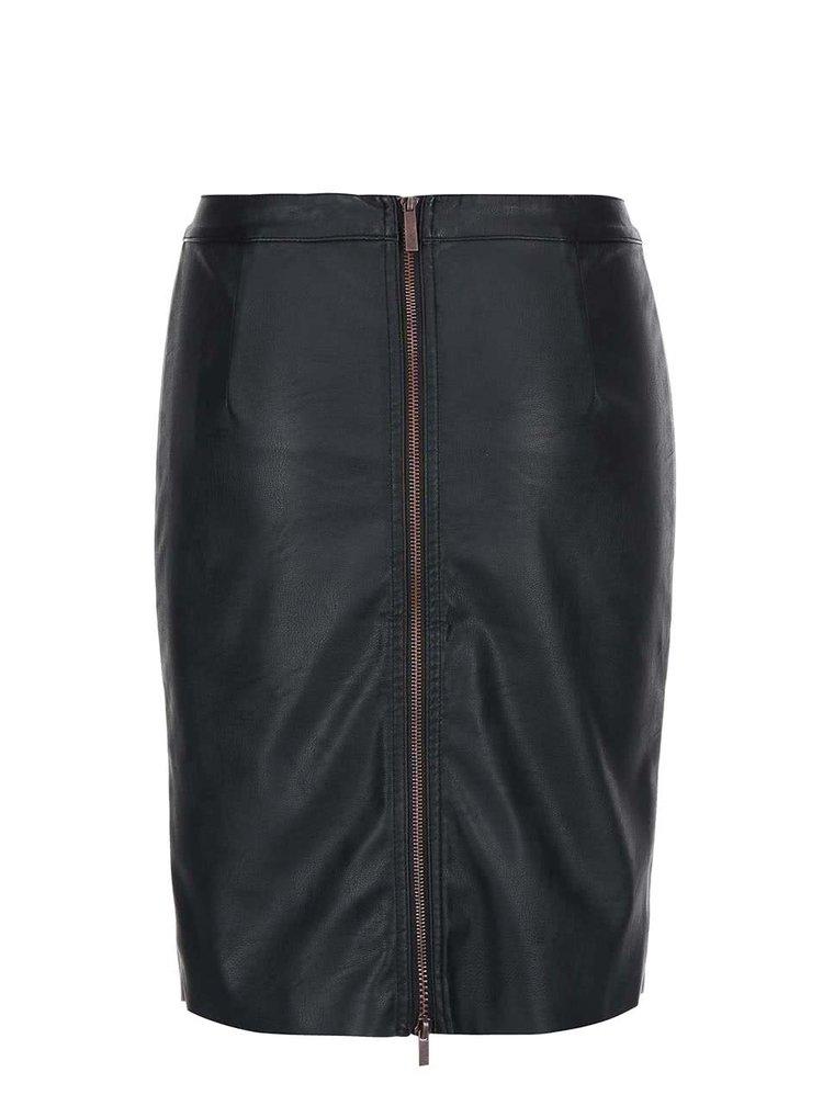 Černá koženková pouzdrová sukně ONLY Rica