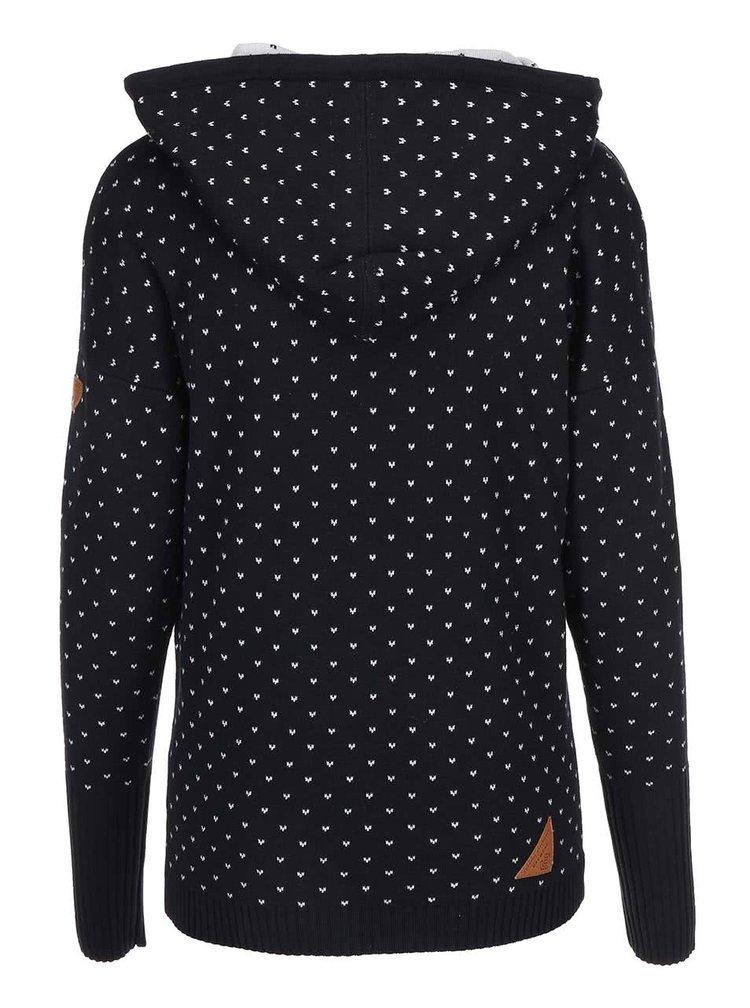 Šedo-černý dámský svetr s kapucí Ragwear Samui