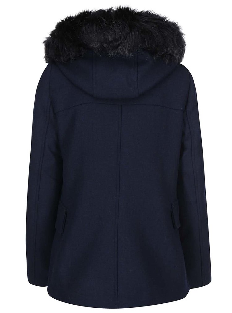 Palton Camille bleumarin cu gluga de la VERO MODA