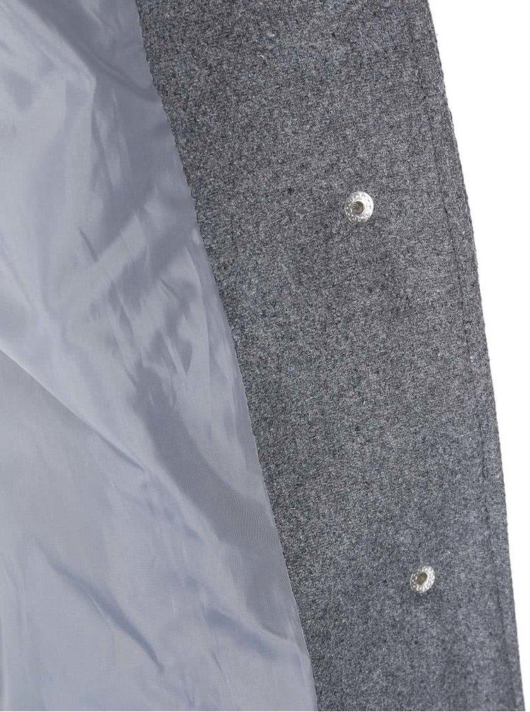 Palton cu gluga VERO MODA Camille - Gri