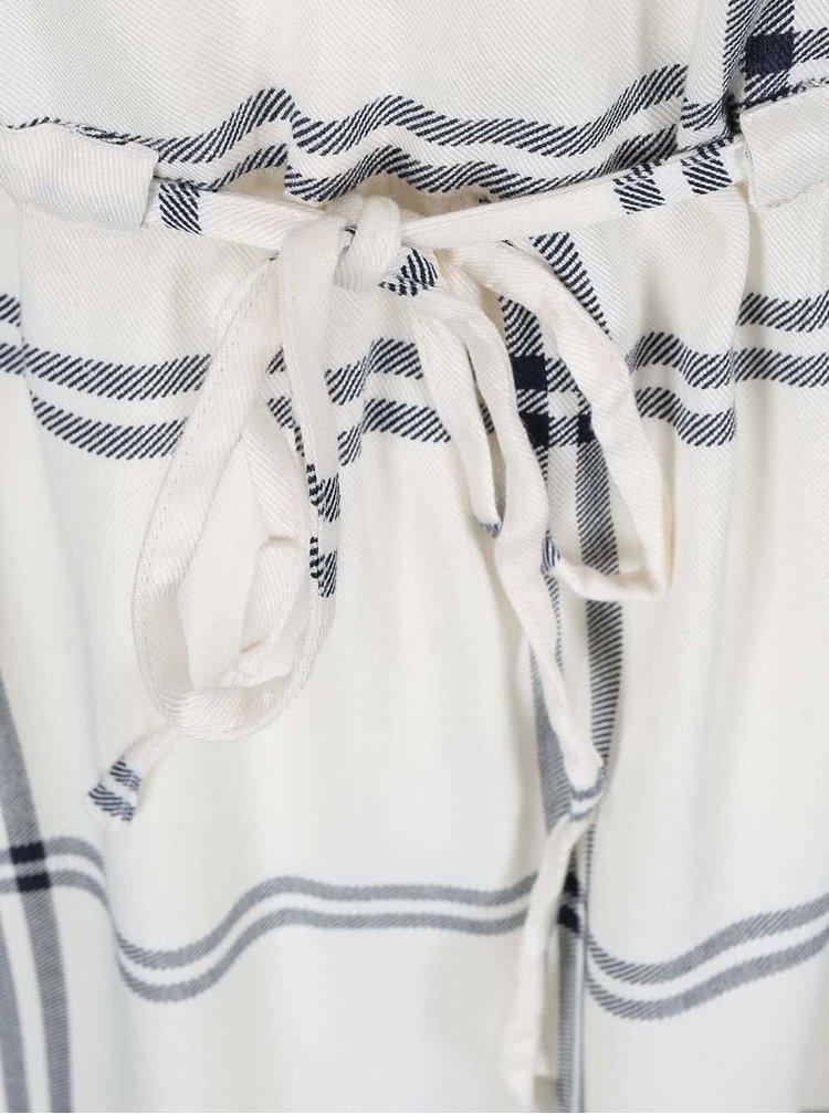 Krémové šaty s 3/4 rukávem VERO MODA Abbi