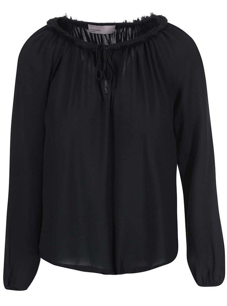 Bluza Louise neagra de la VERO MODA