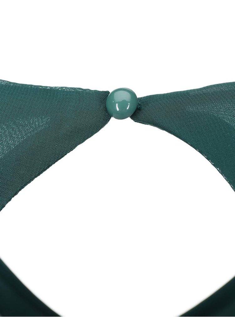 Zelené šaty s flitrovou sukní VERO MODA Minna