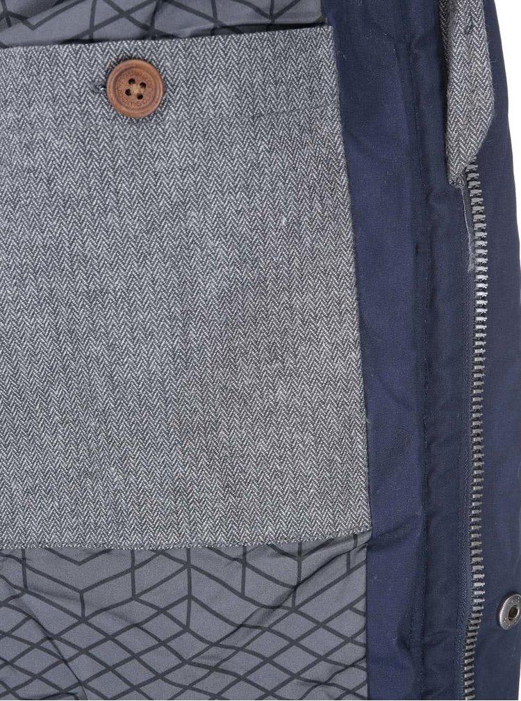 Sivo-modrá pánska bunda Ragwear Jerry