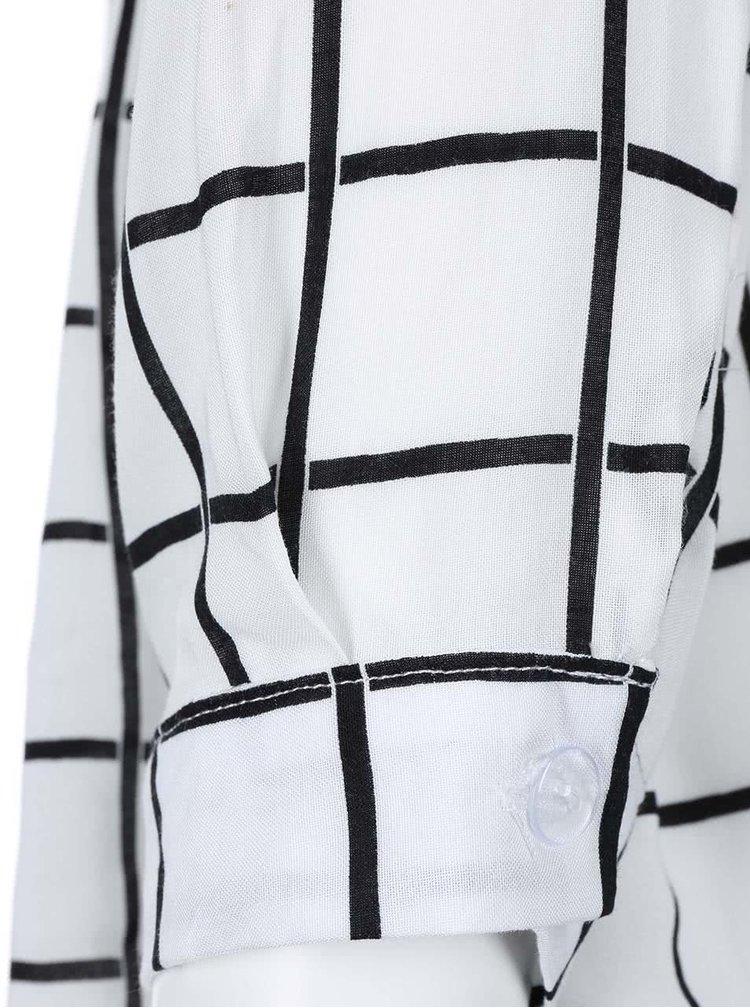 Bílá kostkovaná košile Madonna Reni
