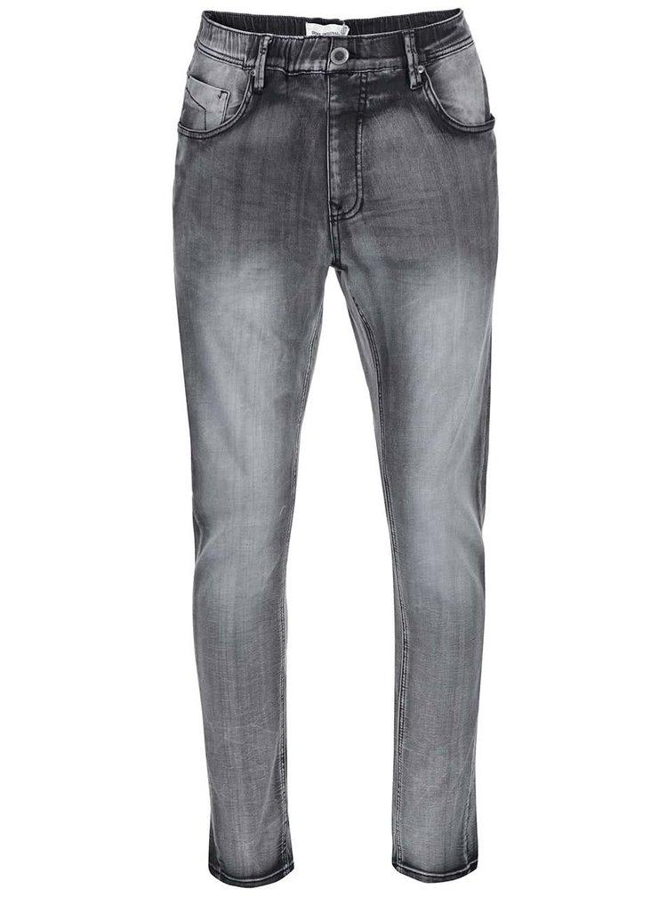 Šedé džíny s pružným pasem Shine Original Antifit