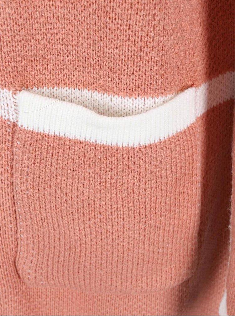 Starorůžový kadrigan s krémovou kostkou ICHI Marisa