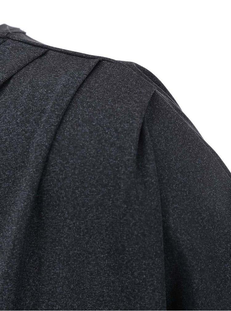 Tmavosivé voľnejšie šaty ICHI Lulla