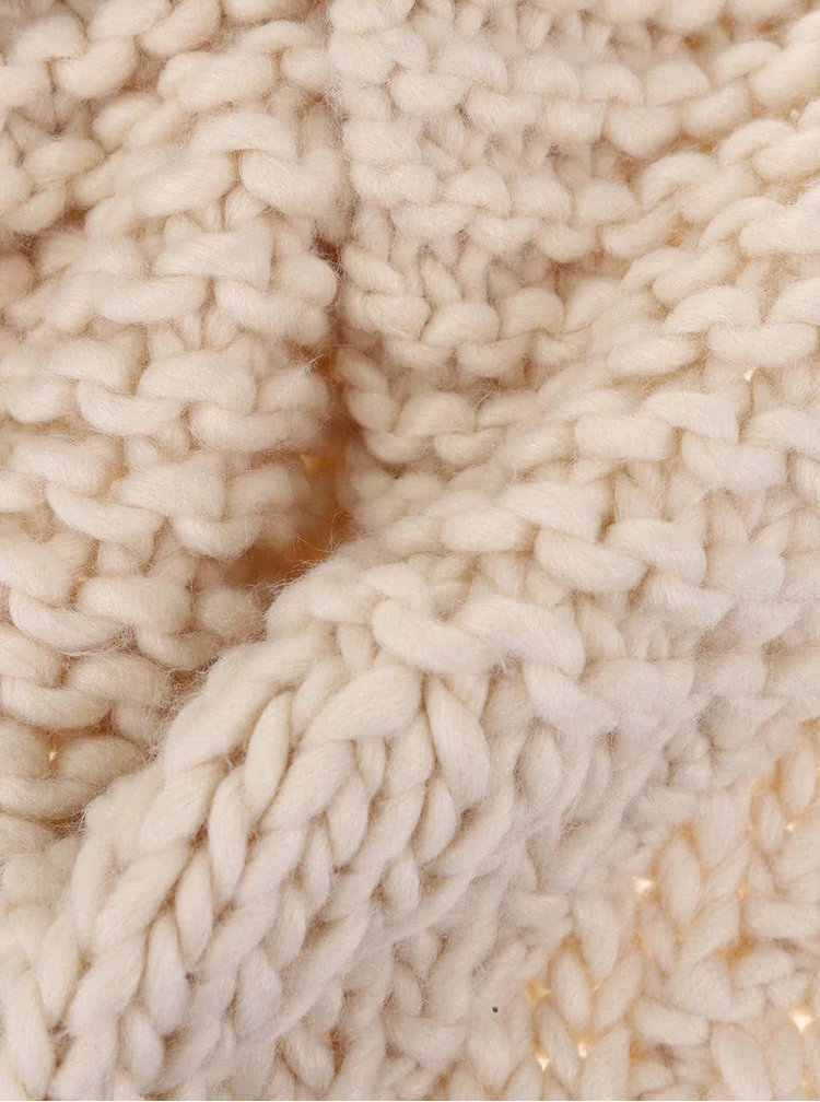 Fular Radica din lână cu franjuri de la Pieces