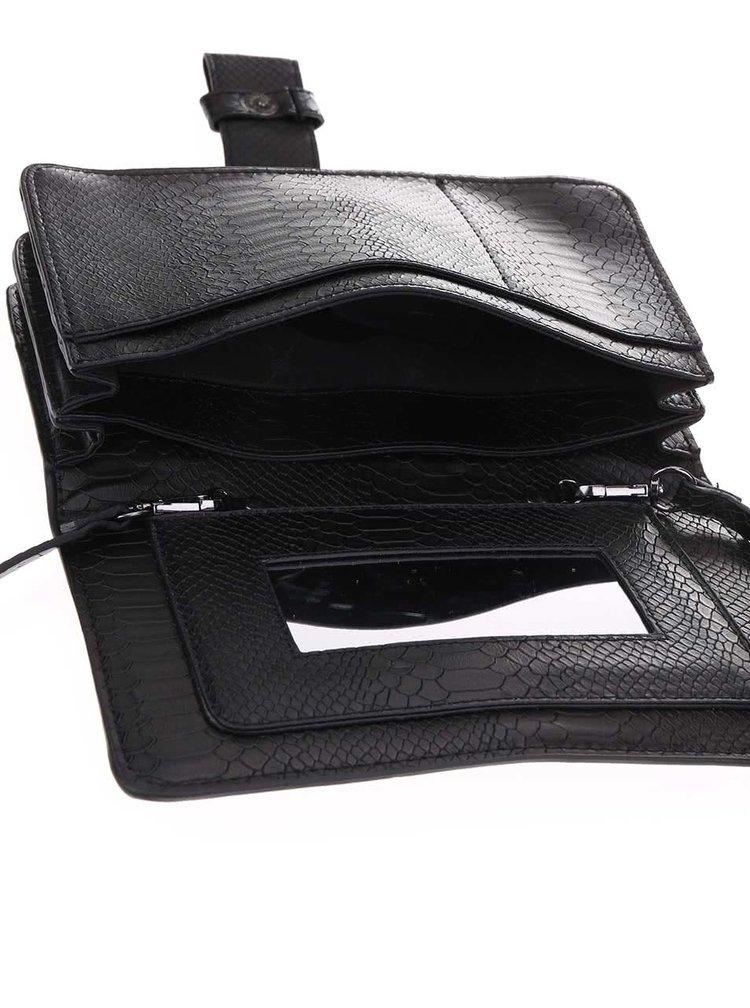 Čierna menšia kabelka Pieces Velvet