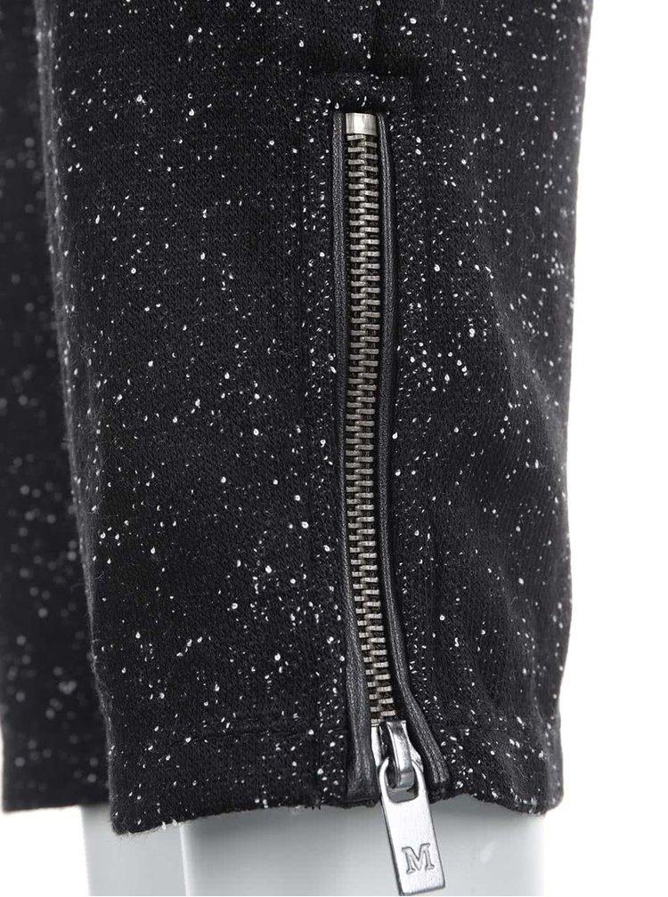 Čierne žíhané nohavice Maison Scotch