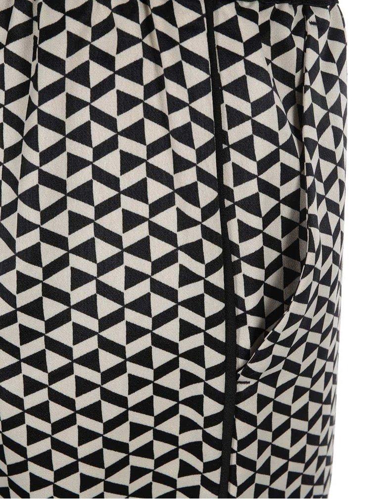 Černo-krémové vzorované kalhoty Scotch & Soda