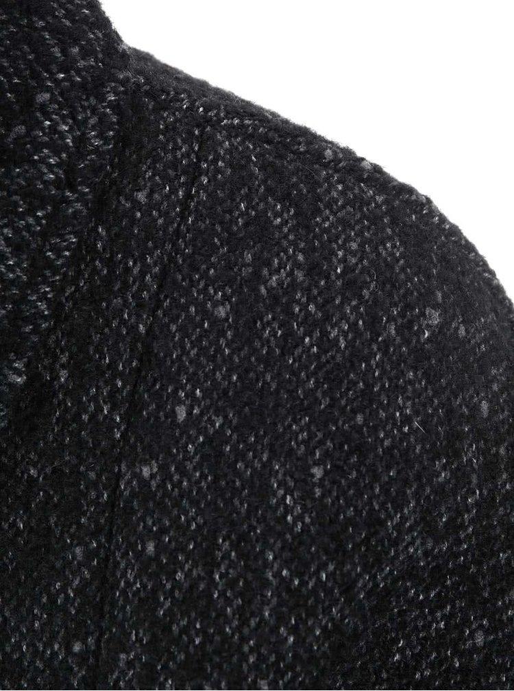 Palton Round gri inchis de la Noisy May