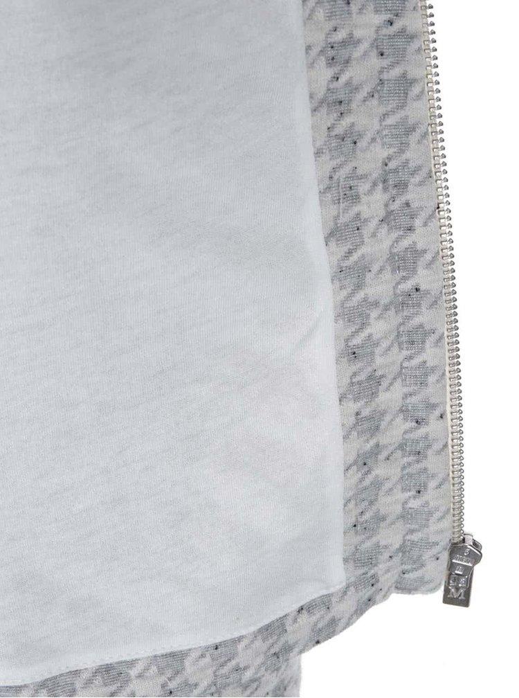 Šedo-krémový blejzr se vzorem kohoutí stopy Maison Scotch