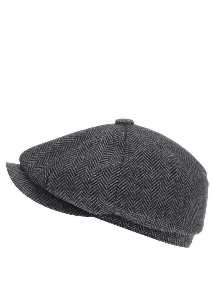 Șapcă de lână gri Dice Peaked