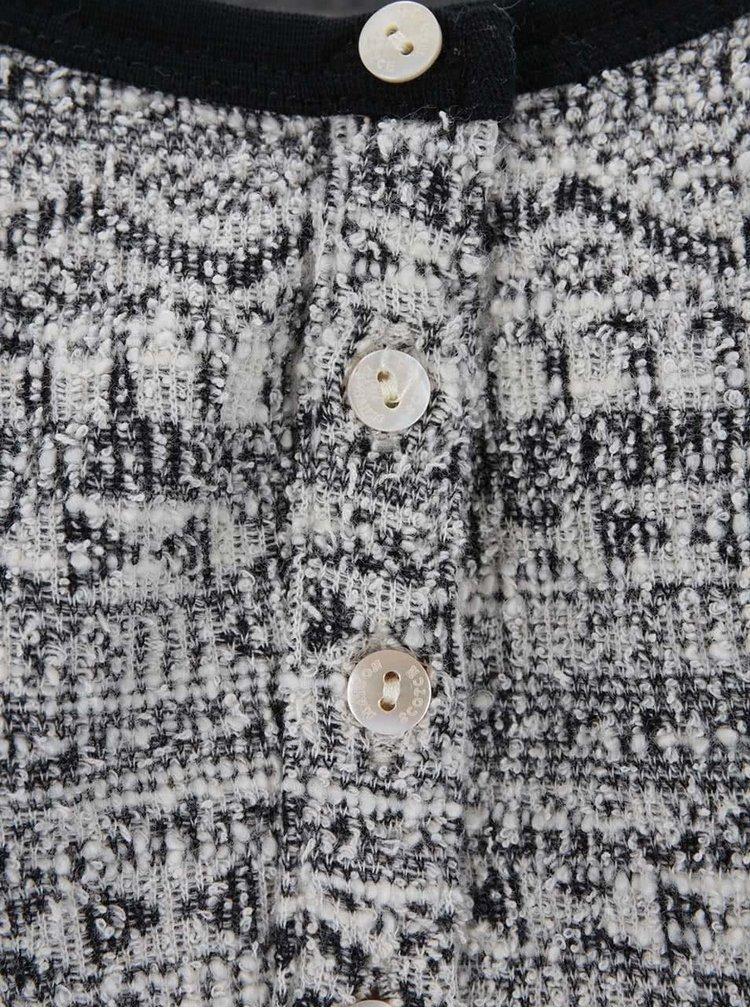 Sivé vzorované tričko s dlhým rukávom Maison Scotch