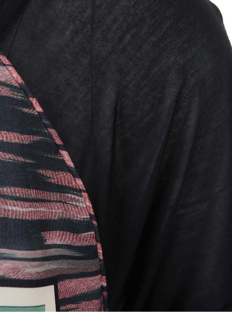 Čierne dámske tričko s potlačou Maison Scotch