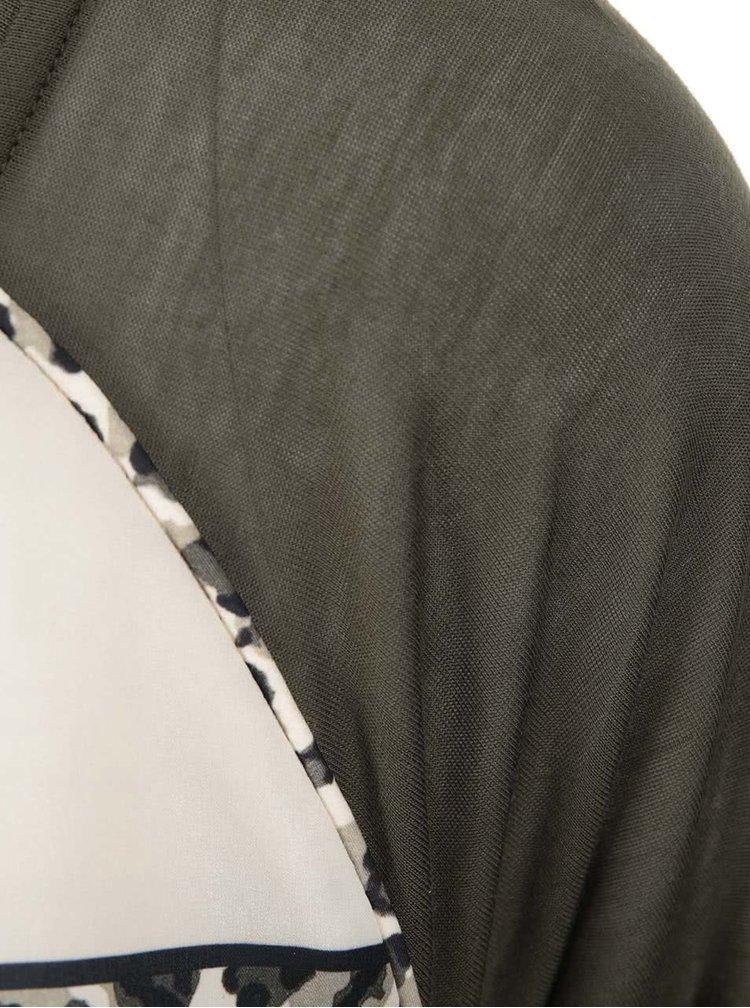 Olivové vzorované tričko Maison Scotch