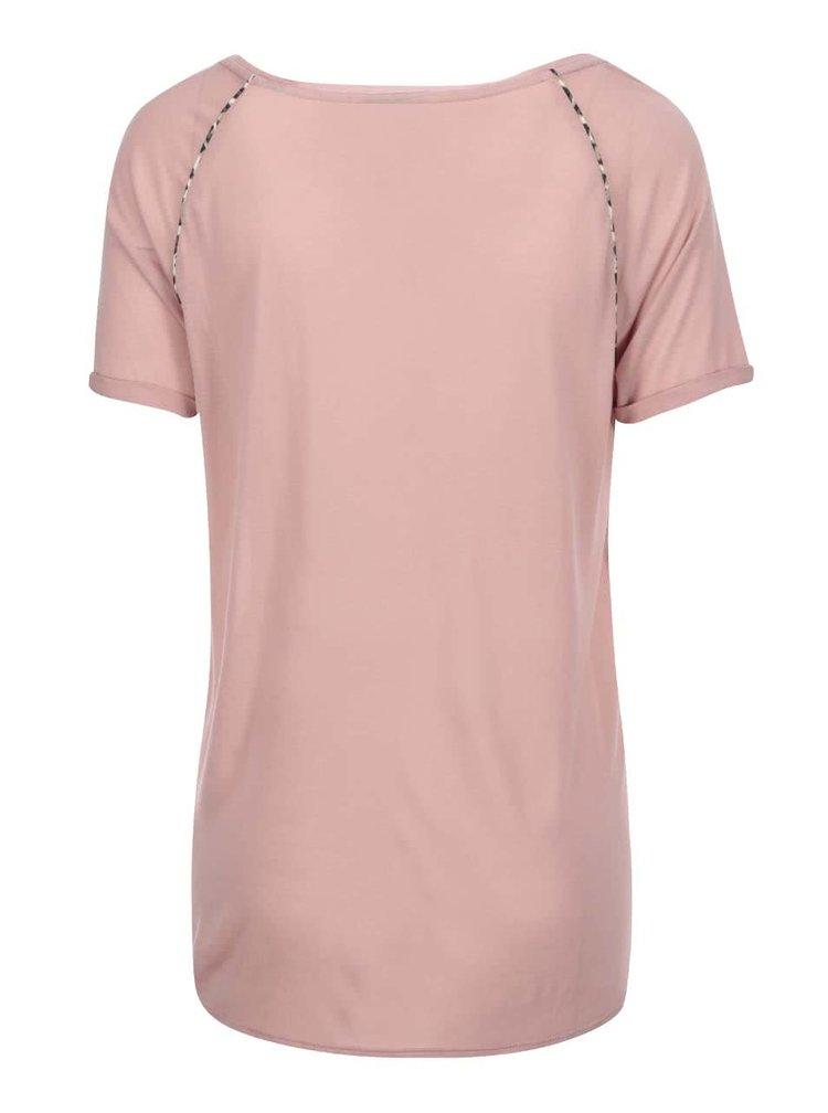 Tricou de damă cu imprimeu Maison Scotch - roșu corai