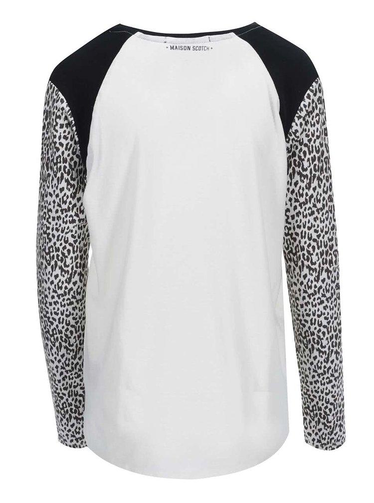 Bluză de damă cu imprimeu Maison Scotch - negru și alb