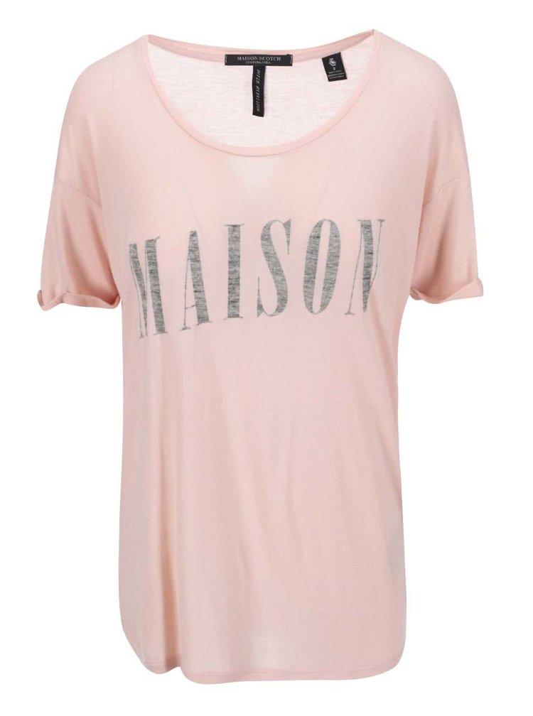 Tricou de dama cu imprimeu Maison Scotch - roz