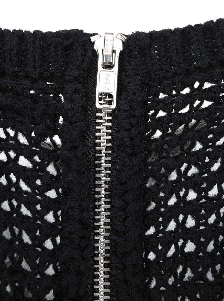Černý svetr se zipem na zádech ONLY Emma