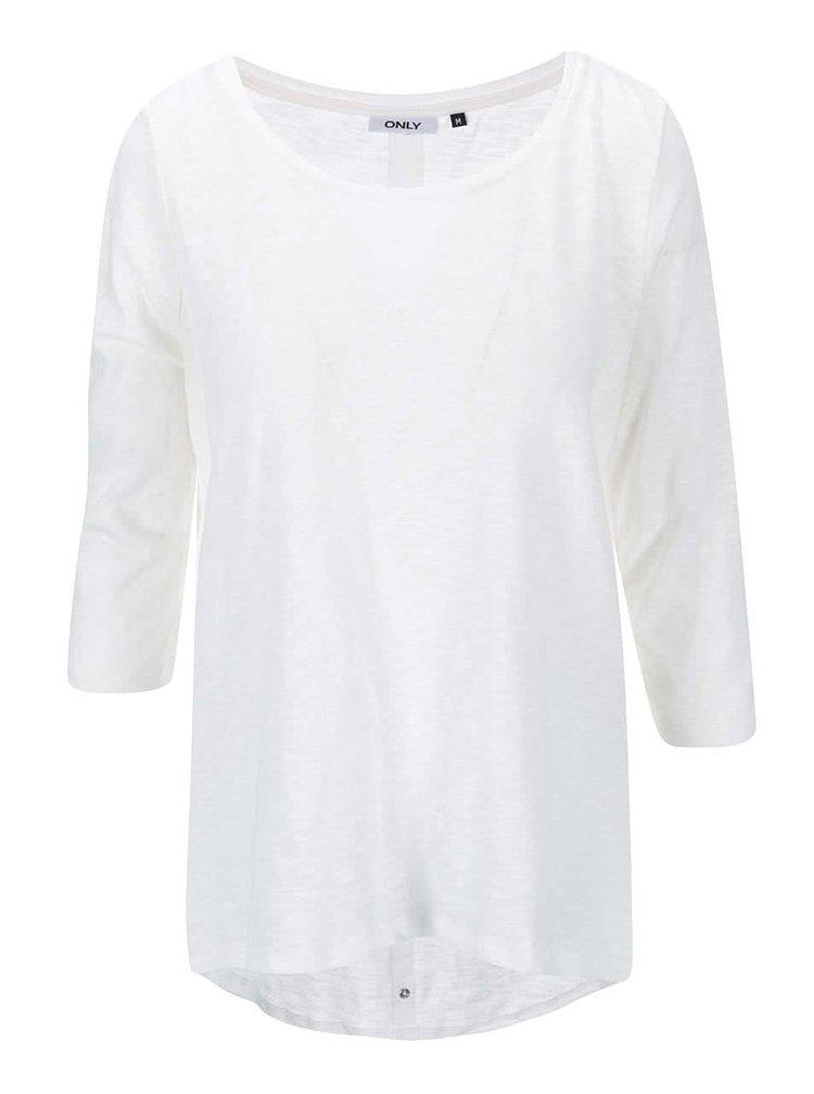 Bluza alba cu maneci 3/4 si capse la spate ONLY Casa