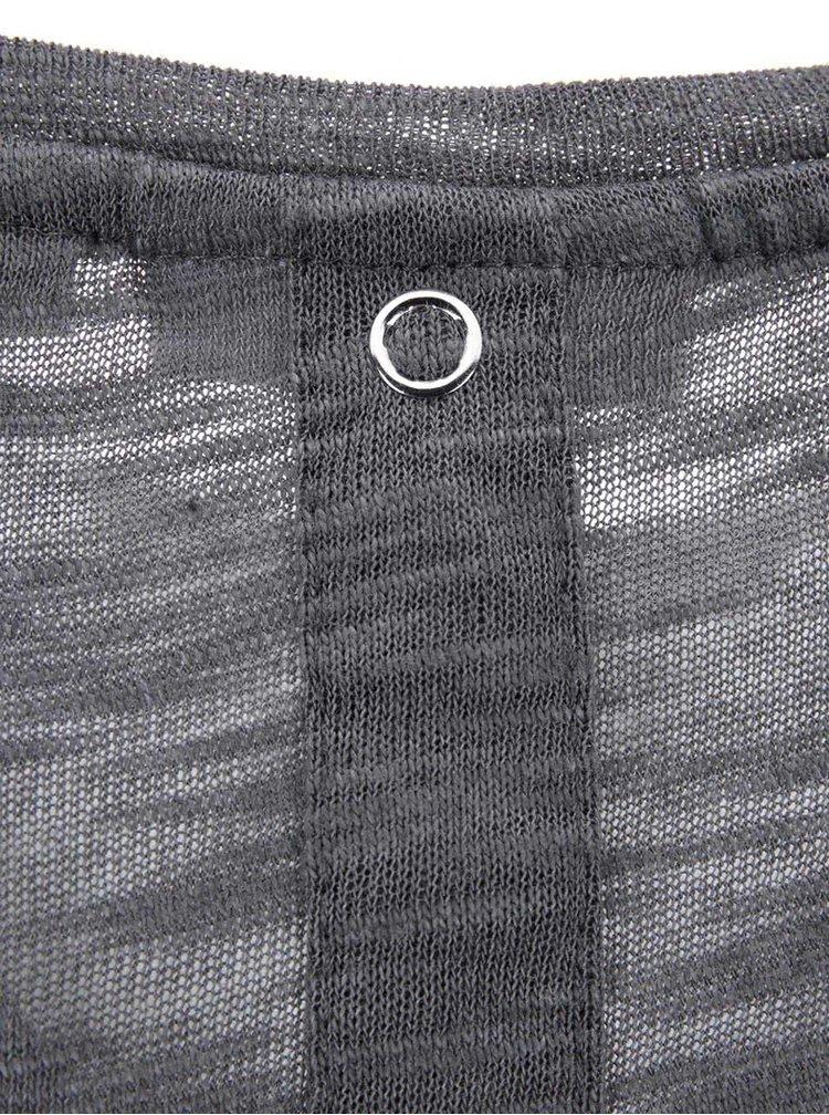 Tmavě šedý top s 3/4 rukávem ONLY Casa
