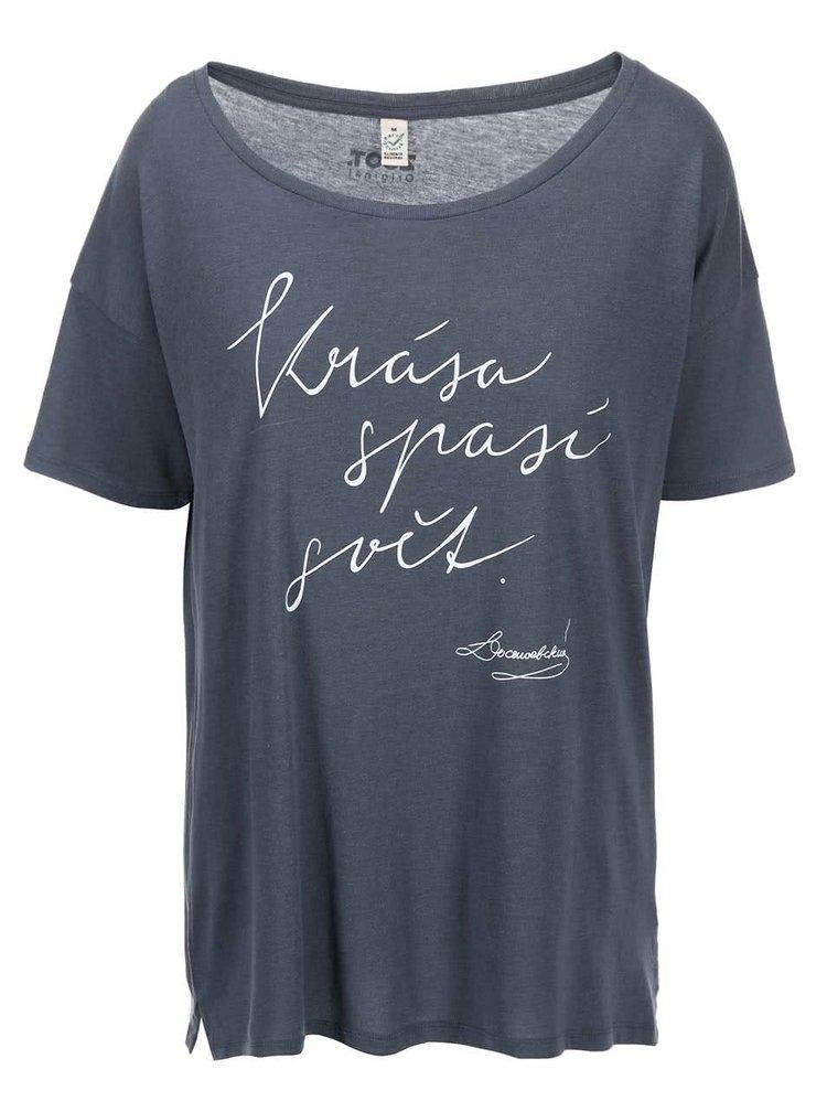 Šedé dámské tričko ZOOT Originál Krása spasí svět