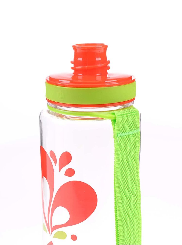 Recipient de sticlă din plastic EQUA cu inimă (600 ml)