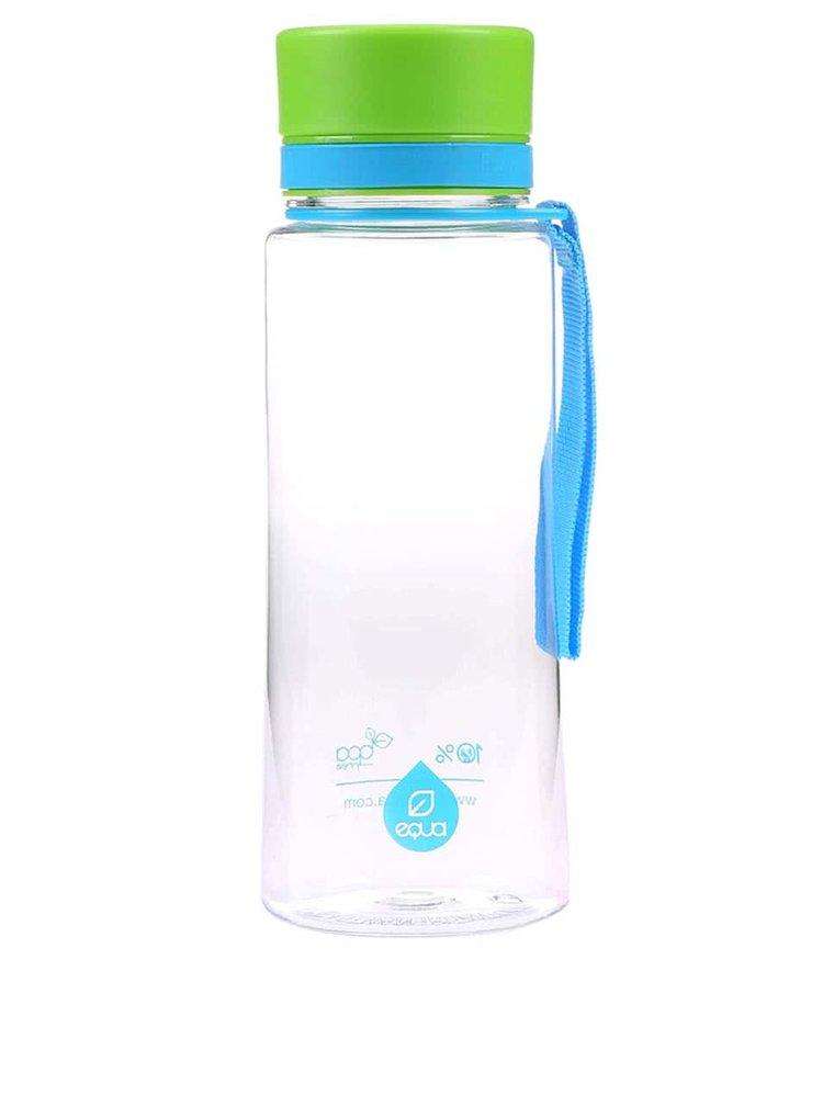 Sticla din plastic EQUA simpla cu capac verde (600 ml)