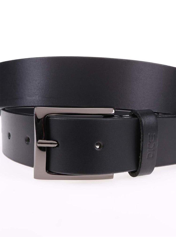 Černý kožený pásek Dice Westside